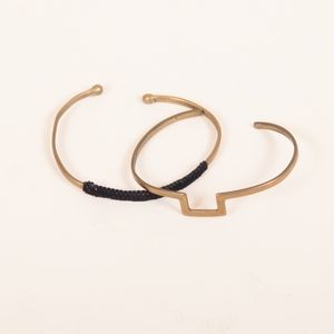 Brass Accent Bracelets (Set of Two)